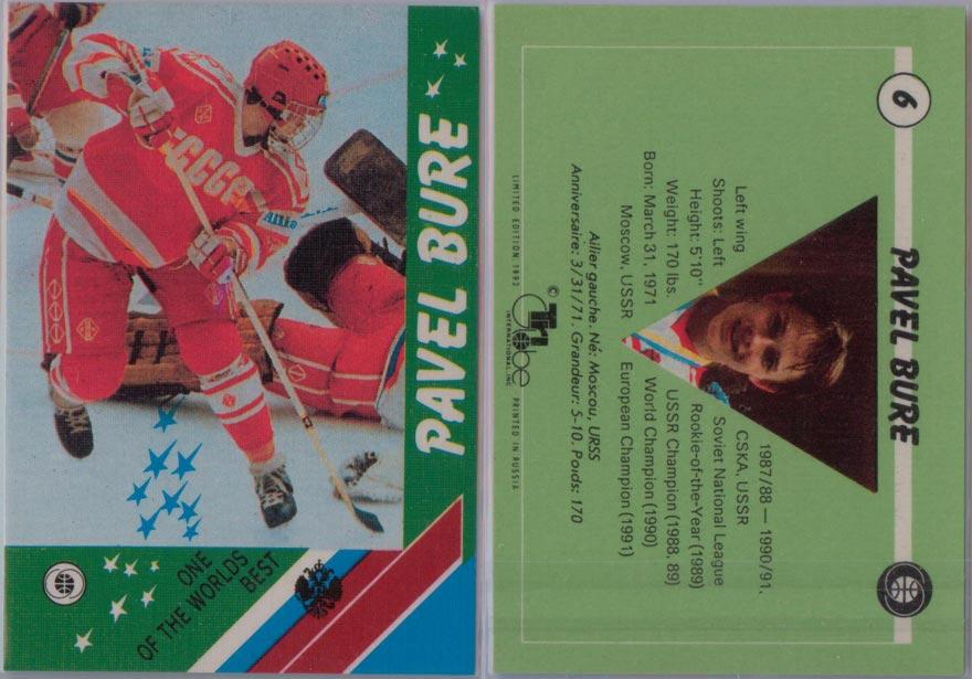 1991-92 Russian Tri-Globe # 6
