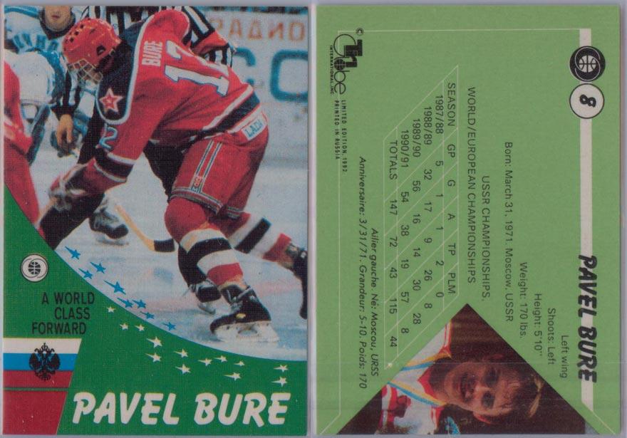1991-92 Russian Tri-Globe # 8