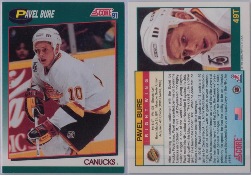 1991-92 Score Rookie/Traded # 49T