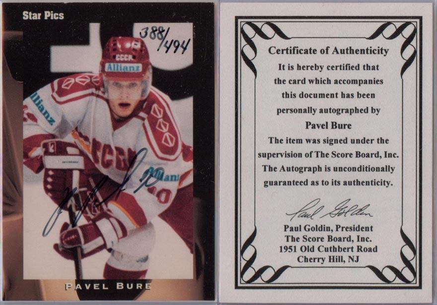 1991-92 Star Pics Autographs # 25 388/494