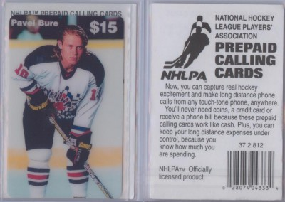 1995 NHLPA Phone Cards # NNO 1,137/3,000