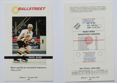 1992 Ballstreet Uncut Sheet # 11