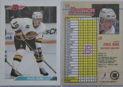 1992-93 Bowman # 154