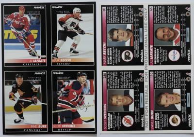 1992-93 Pinnacle Promo Sheet # 1