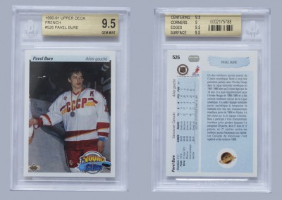 1990-91 Upper Deck French # 526 BGS 9.5