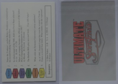 1992-93 Ultimate Sports Trivia # 30