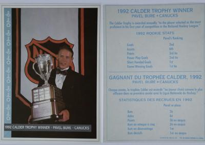 1992-93 OPC Calder Trophy Winner # NNO