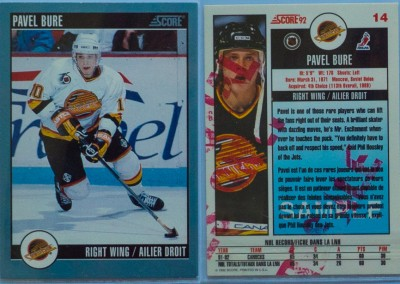 1992-93 Score Canadian Promo Sample # 14