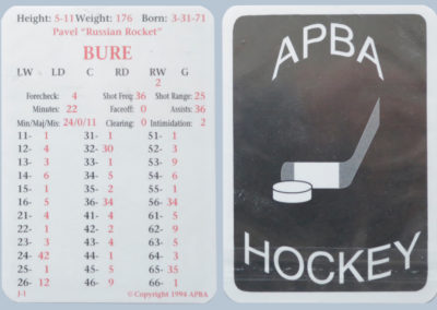 1994 APBA Hockey Playing Card # J1