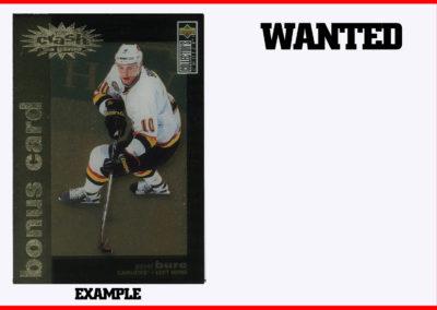 1995-96 Collector's Choice You Crash the Game Bonus Card Gold # C1